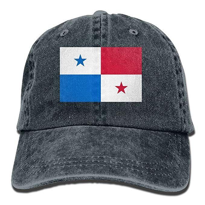 Unisex Flag of Panama Adjustable Baseball Hats Twill Plain 2 Pack Vintage Baseball Cap