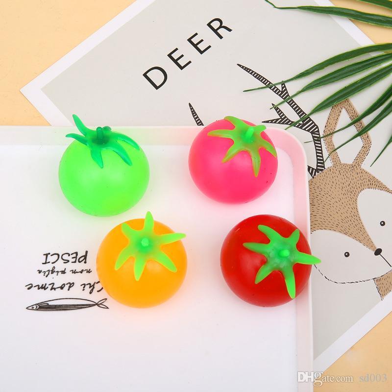 Desenhos animados Toy Descompressão Frutas mole Balls animais Pig água Tomates Ventilação bola Rato Coelho Forma 0 55qx UU