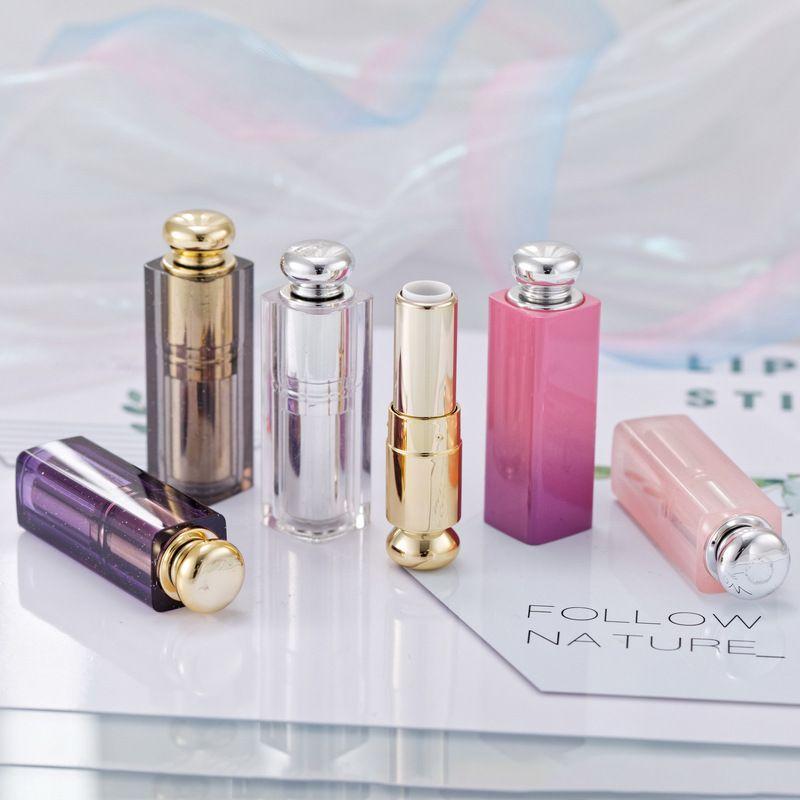 Tubo de vacío Tubo del lápiz labial de plástico transparente Lip Balm linda Contenedores de labios Rouge Paquete