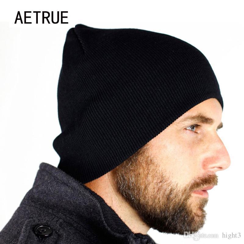 Neue Mützen Männer Hut Winter Hüte Für Männer Frauen Strickmütze Caps Schädel Marke Bonnet Lässige Skullies Warme Mütze Schwarz Winter Beanie 2017