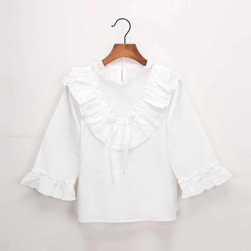 Frühling Herbst Baby Mädchen Bluse Rüschen Bowknot Langarmshirts Shirt Kinder Prinzessin Casual Shirts Weiß Grau 4424