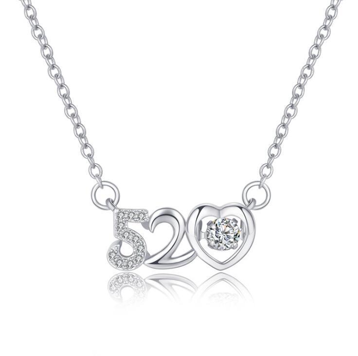 남성 여성 스테인레스 스틸 체인 (520) 편지 패션 보석 화이트 라인 석 펜던트 아이스 아웃 18K 플레이트 화이트 골드 CZ 다이아몬드 목걸이