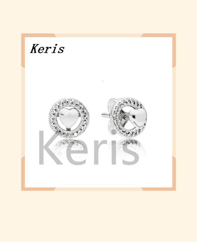 100% d'argento sterling glamour 29621cz raggiante e gioielli presto originale di moda borchie femminile