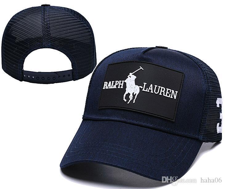2019 Yaz Yeni marka tasarımcı şapkalar ayarlanabilir beyzbol kapaklar Klasik bayan moda polo şapka kemik kamyon şoförü casquette kadın Gorras topu kap mens