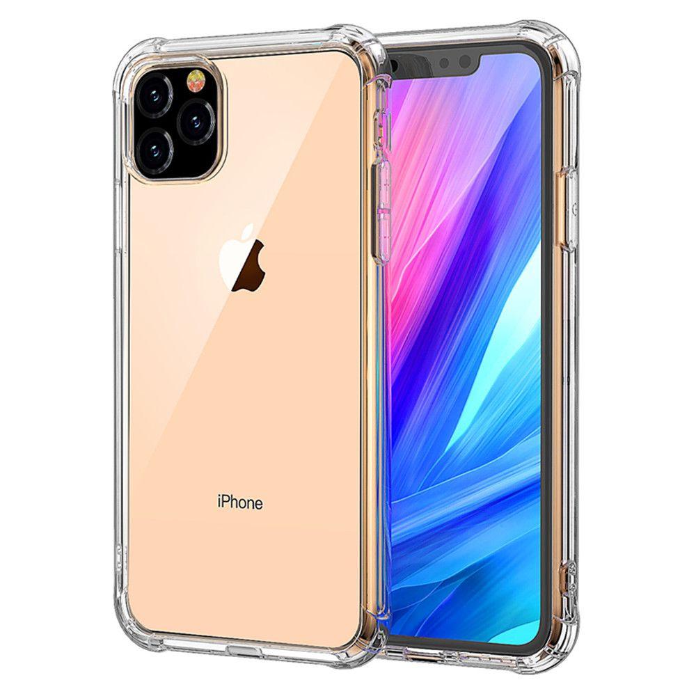 Для iPhone 11 Pro Max XS MAX XR Clear ТПУ чехол противоударный Прозрачная мягкая задняя крышка для Samsung S9 S10 Plus Note10
