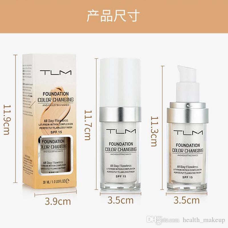 Dropshipping sans défaut GGP Color Changing Foundation Tone peau chaude couleur visage Maquillage de base Nu visage hydratant liquide Couverture Correcteur