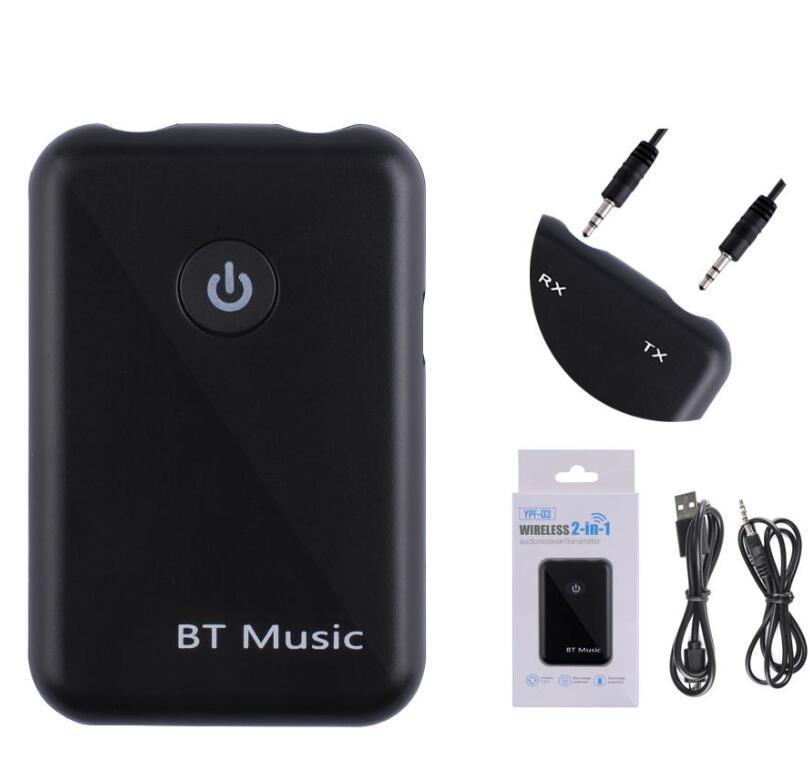 Bluetooth V4.2 Receptor del transmisor 2-IN-1 Adaptador de audio AUX APT-X HD de 3.5 mm APT-X HD para todos los teléfonos inteligentes