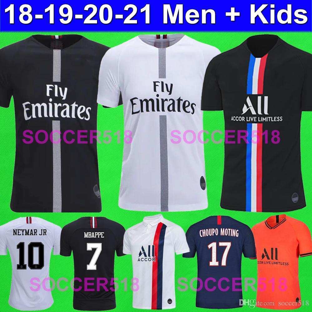 2018 2019 2020 PSG AIR JORDAN كرة القدم البلوزات MBAPPE 19 20 Paris Saint Germain KIDS قمصان كرة قدم NEYMAR KIMPEMBE بلوزات كرة قدم المركز الرابع الرابع أطفال ICARDI CHOUPO MOTING