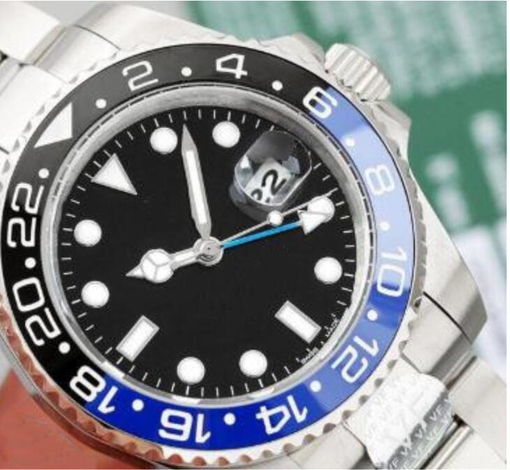 Nueve hombres de color de 40 mm Diámetro de relojes de moda de alta calidad mecánica automática del reloj del acero inoxidable del oro de la correa de los hombres de plata de Multi-color D