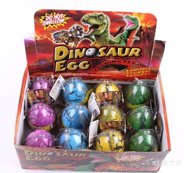 Huevo de dinosaurio 5 * 7cm grande mágica inflable Eclosión dinosaurio Agregar agua creciente Dino Huevos cabrito del niño de juguete
