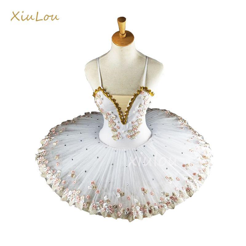 Weiß Professionelle Ballerina Für Kind Kinder Kinder Erwachsene Pfannkuchen Tutu Dance Kostüme Ballettkleid Mädchen Q190604