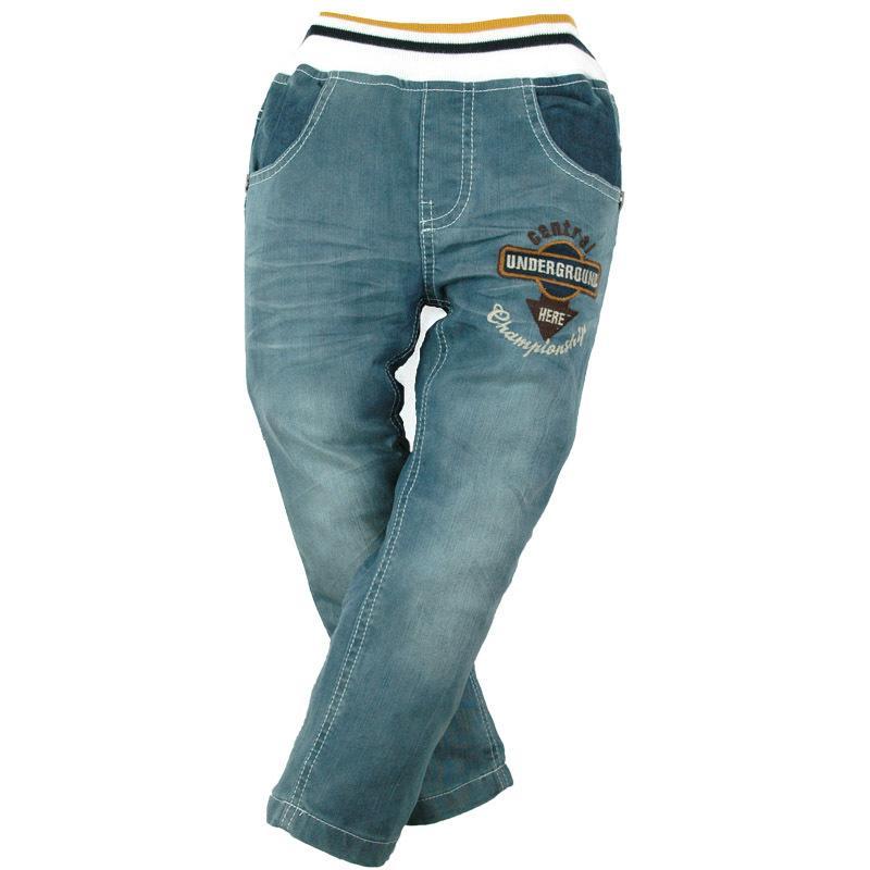 12M-7Y Garçons Denim Pantalons Broderie Jeans Casual 4 poches Carotte enfants Teen taille élastique de haute qualité Marque MH9601 Y200409
