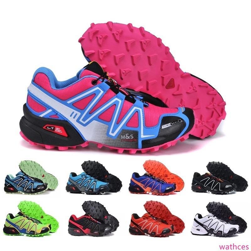 Nouveau Top qualité Zapatillas Speedcross 3 Chaussures de course Hommes marche Ourdoor Chaussures de sport Chaussures de sport Taille Eur 36-46