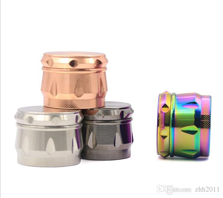 New Type of Four-layer Pure-color Smoke Grinder, Zinc Alloy Multicolor Smoke Crusher, 2019