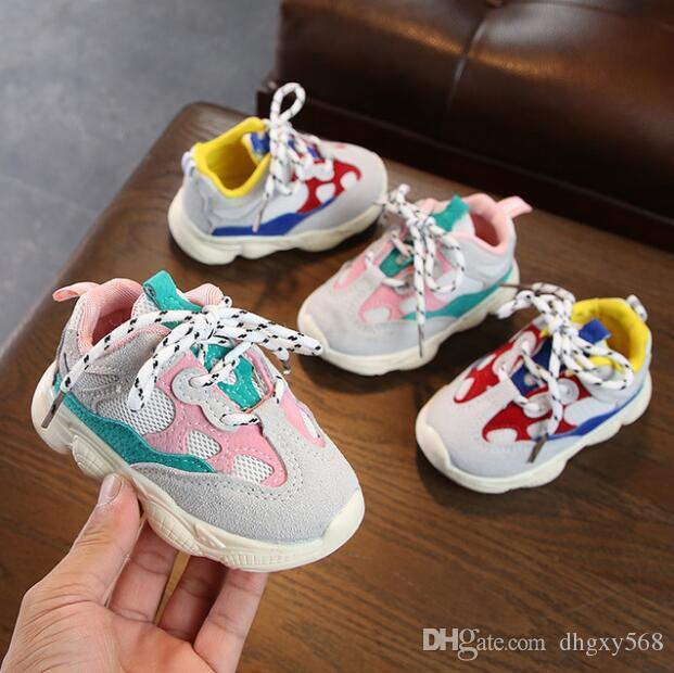 منزل الطفل، أحذية الاطفال الأمومة التفاصيل الأولى حمالات المنتج 2018 الخريف طفلة بوي طفل الرضيع عارضة أحذية الجري لينة بوت