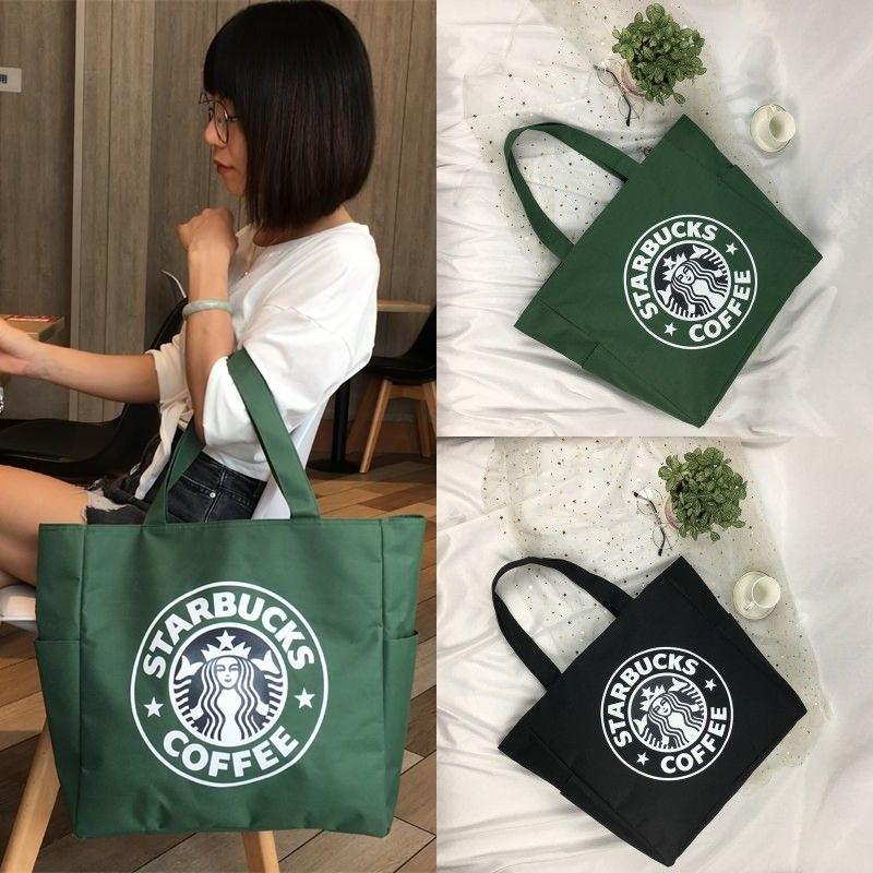 New Women/'s Shoulder Bag Starbucks Print Handbag Tote Canvas Cross Body Satchel