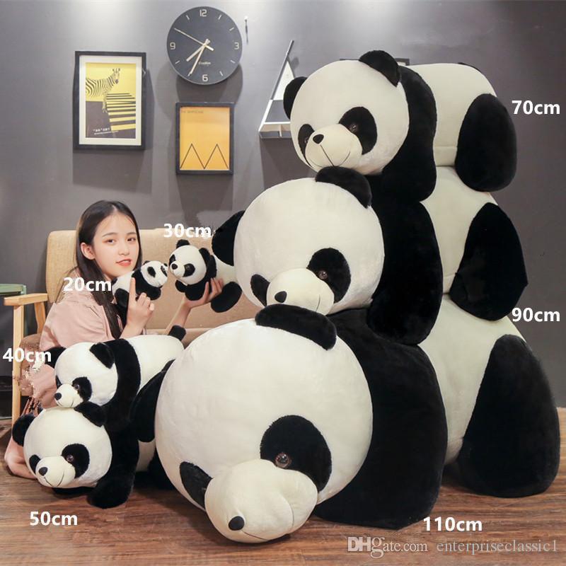 Géant Panda En Peluche Poupée Jumbo Mignon Fat Hug Ours En Peluche Jouet Sommeil Oreiller Enfants Jouets Fille Cadeau D'anniversaire 43 pouces 110 cm