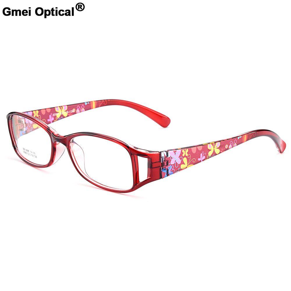 New Arrival Gmei Optical Colorful Women Full Rim Optical Eyeglasses Frames Urltra-Light TR90 Plastic Female Myopia Eyewear