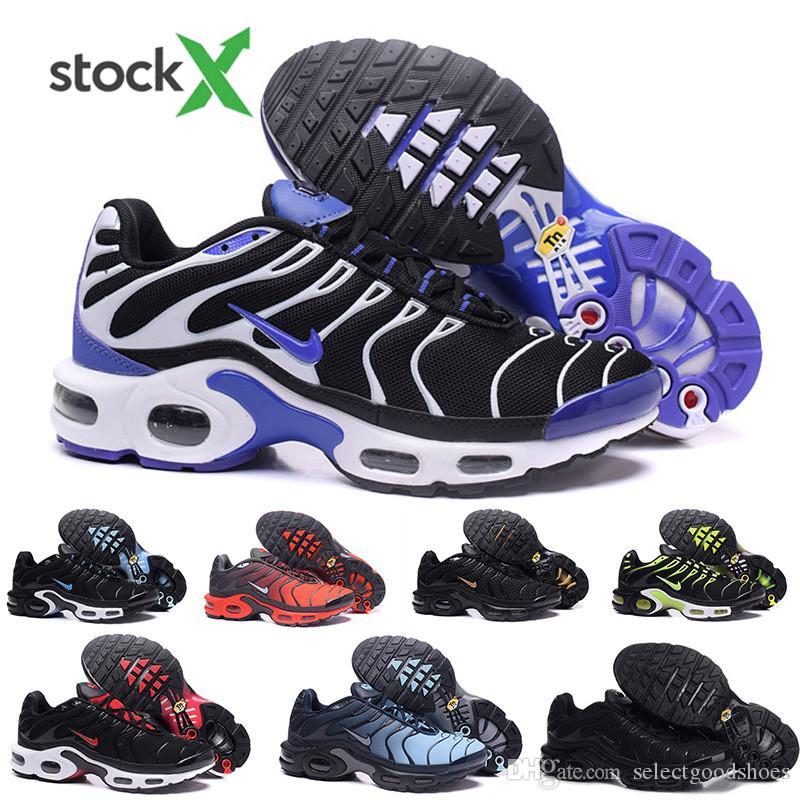 nike Tn plus air max airmax El envío rápido de calidad superior MENs Aire TN de los zapatos corrientes barato CESTA REQUIN malla transpirable CHAUSSURES Homme Noir Zapatos Zapatil