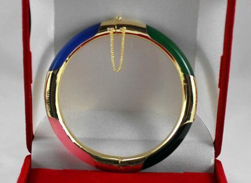 Verkauf von Schmuck 57MM beliebte Buddha grüne Jade Armband