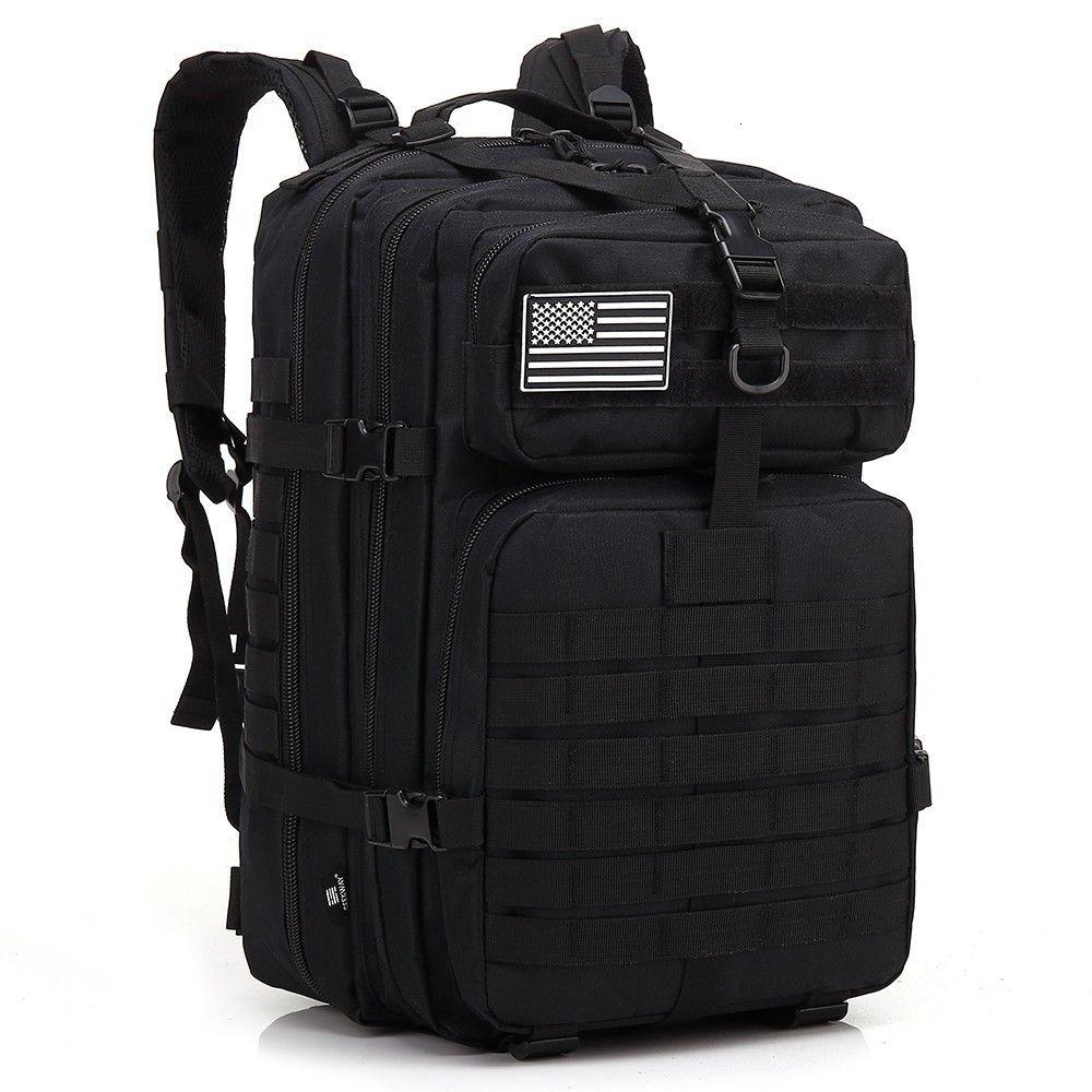 45L Hommes Chasse Sacs à dos tactique militaire Molle Armée Assault Pack Voyage Rucksack Bug Out Sac pour les sacs de camping randonnée en plein air T190922