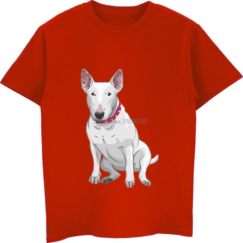 Забавный бультерьер собака мода печати футболка лето горячие продажи мужская хлопчатобумажная футболка мужской короткий рукав О-образным вырезом рубашки унисекс тройники