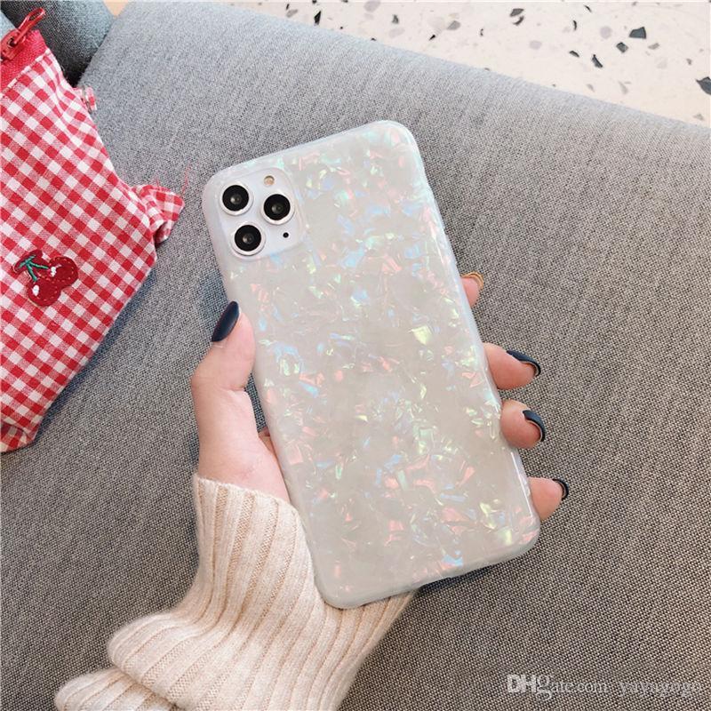 Wasserdichtes leuchtendes Telefon-Abdeckung für iPhone 11 X XR XS Max-Beutel-Beutel-Kasten für Samsung S10 Huawei P30 Wasserdichte Casemoskado Glitter