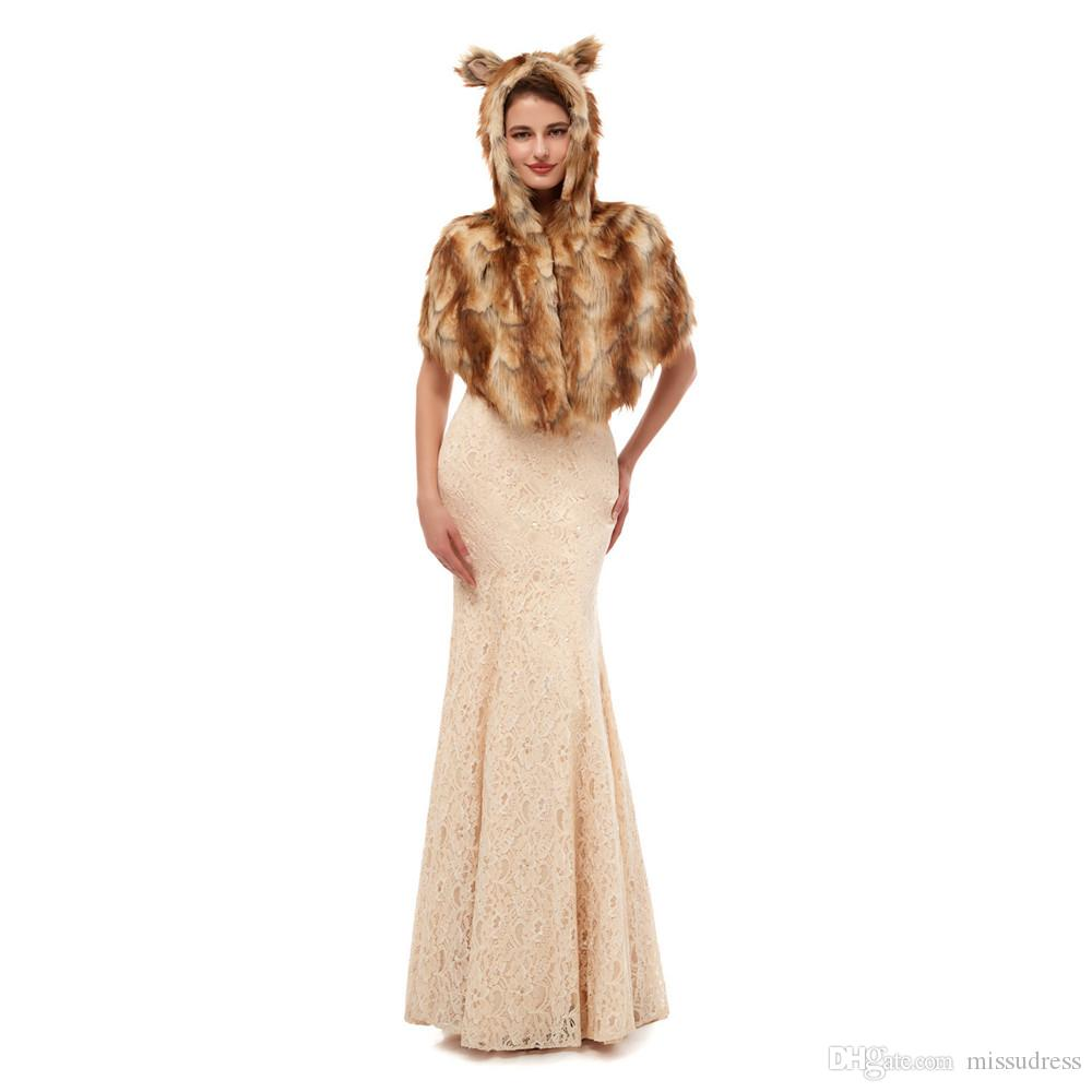 Inverno Wedding scialle bella Faux Fur nuziale avvolge elegante pelliccia Autunno Inverno nuziale giacca 2019 caldo vendita calda