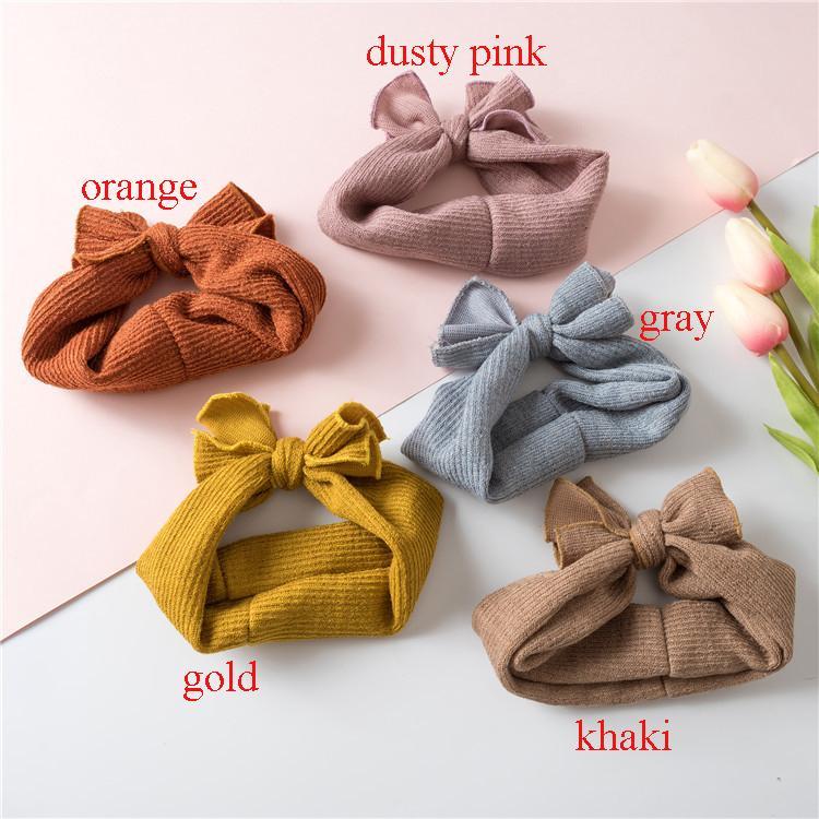 24pc / lot Bebés Meninas de malha de lã Faixa de Cabelo, Acessórios de cabelo Knotbow de moda infantil Knit turbante menina Crianças Headbands