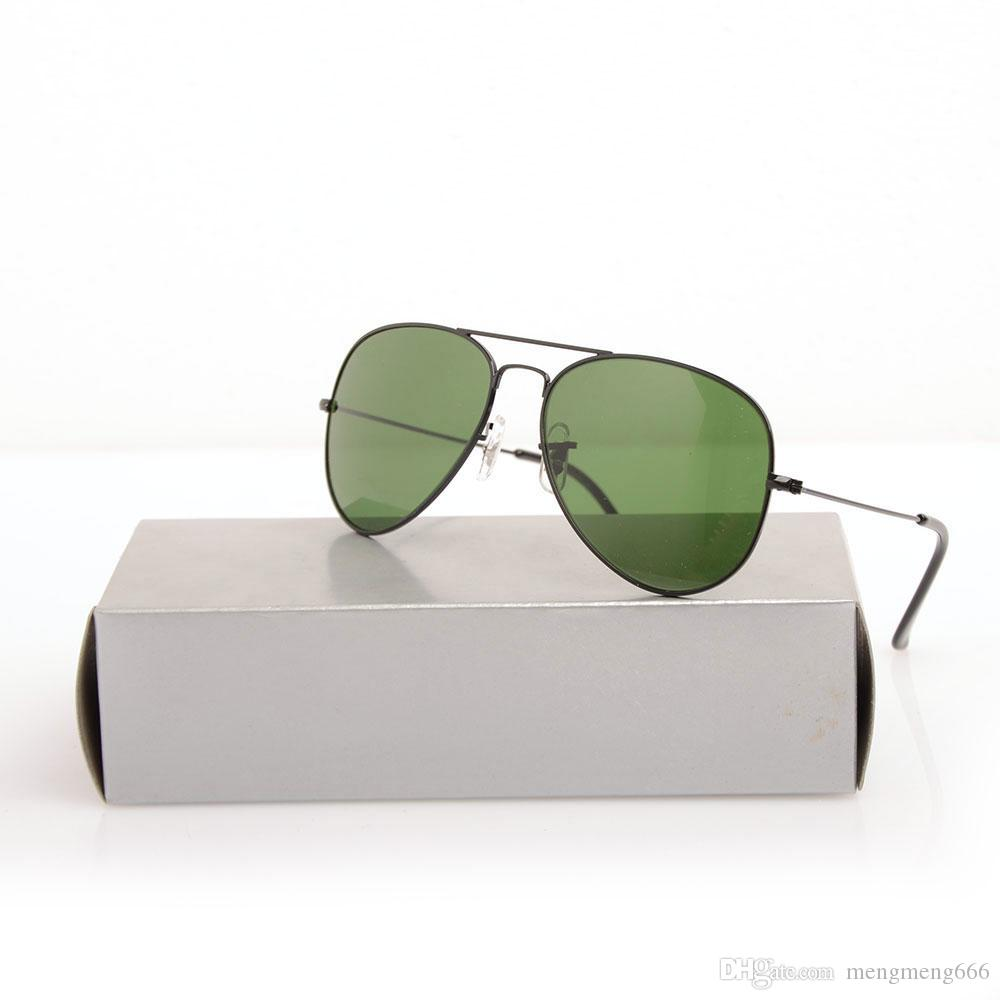 10pcs designer espelho marca óculos clássicos óculos de sol unisex óculos de vidro sol óculos de sol Womans New Pilot Marca Mens Sunglass GRSUA
