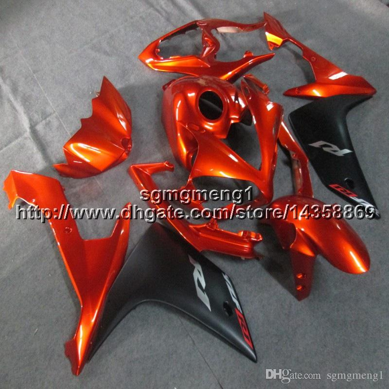 Custom + Screws Injection moldes paneles de motocicleta naranja para Yamaha YZF-R1 2007-2008 07 08 YZFR1 ABS carenados de motor