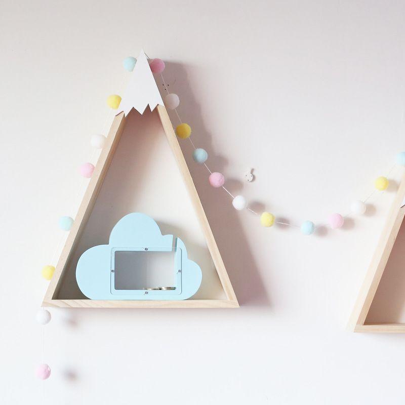 banque bois Nuage Piggy enfants Nordic argent de poche Toy modèle de table Chambre Meubler Articles INS Enfant Cadeaux d'anniversaire