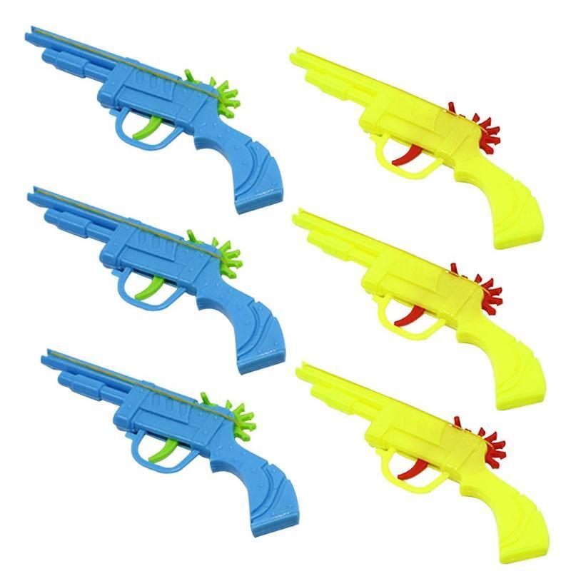 فرقة المطاط البلاستيك بندقية قالب المرح اليد رماية المسدس لعبة هدايا للأطفال الأطفال الرياضة في الهواء الطلق مع صديقهم