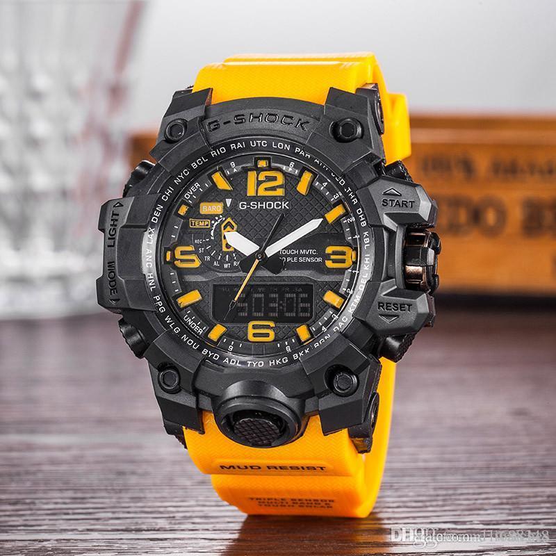 Mode Mens G Art-Militär-Armbanduhr-Multifunktions-LED Digital Shock Quarz-Sport-Uhren für Mann Männliche Studenten Uhr