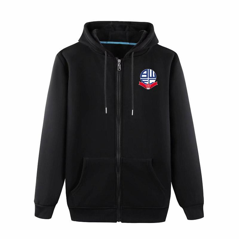 2020 bolton Boutique Veste Manteau de luxe Sweat à capuche à manches longues sport Automne Fermeture éclair Marque manteau coupe-vent de football