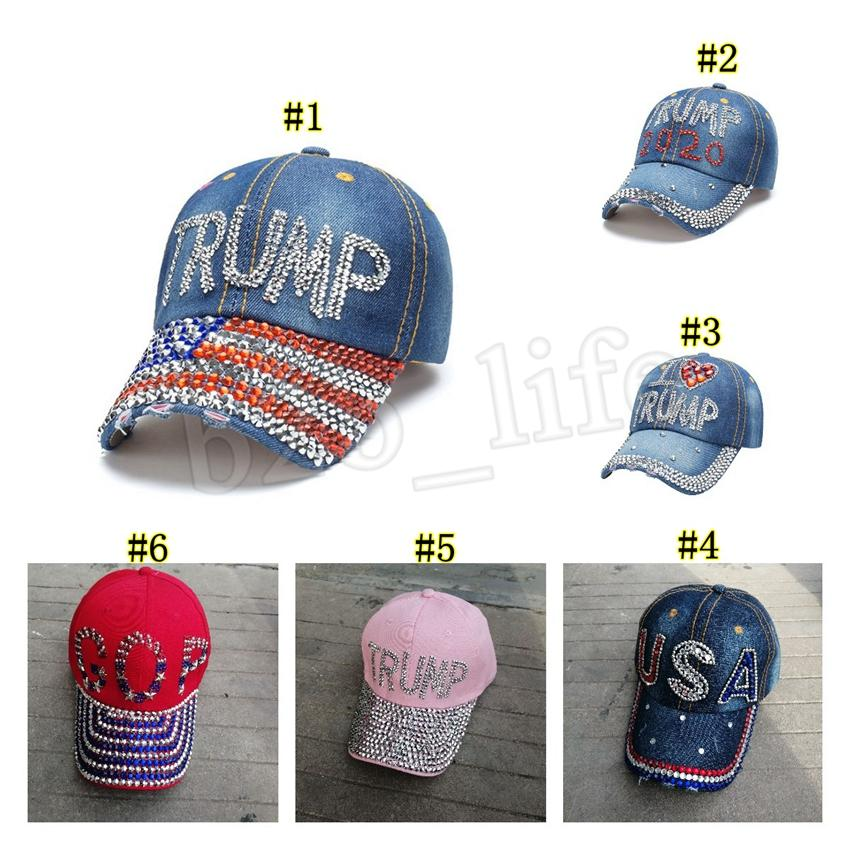 Diamond Unisex Denim Baseball Cap Adjustable Snapback Hats
