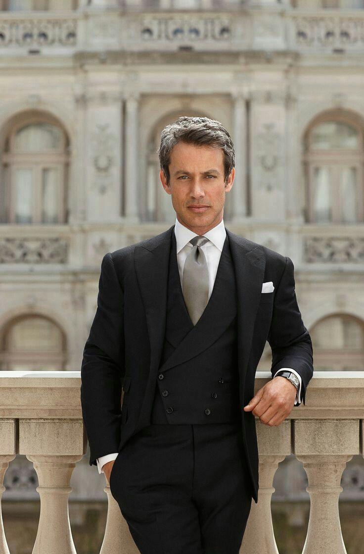Formal Black Mens Suits Pants Groom Wedding Tuxedos Bridegroom Wear Morning Dinner Groomsmen Wear Man Blazers Jacket 3Pieces Evening Party