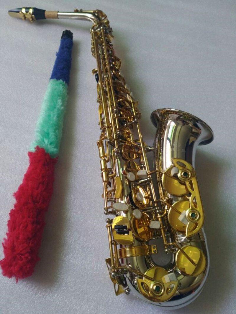 JUPITER JAS-1100SG Eb Saxophone Alto E-plat nickelé Saxophone Instruments professionnels avec des gants de cas Roseaux Mouthpiec