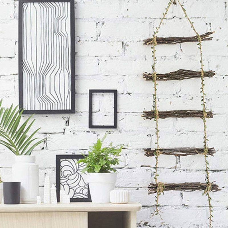10M Blatt Garland Natürliche Jute Twine, Burlap Blatt Band Seil, Wandbehang Artificial Rebe Blattpflanzen Grün für Rustic
