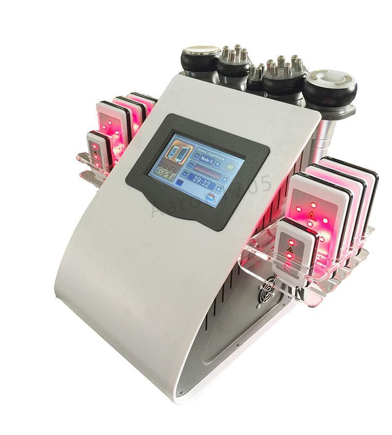 초음파 cavitation 무선 주파수 8 패드 lipo 레이저 슬리밍 진공 RF 피부 관리 살롱 미용 기계