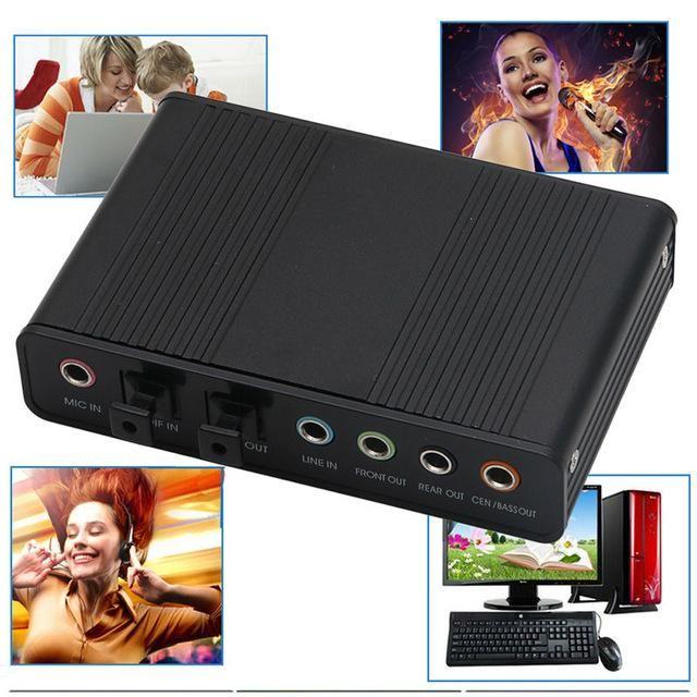 20set optischen USB-Sound-Audioadapter 4 Kanal 5.1 Audio Fiber Soundkarte S / PDIF-Controller für PC