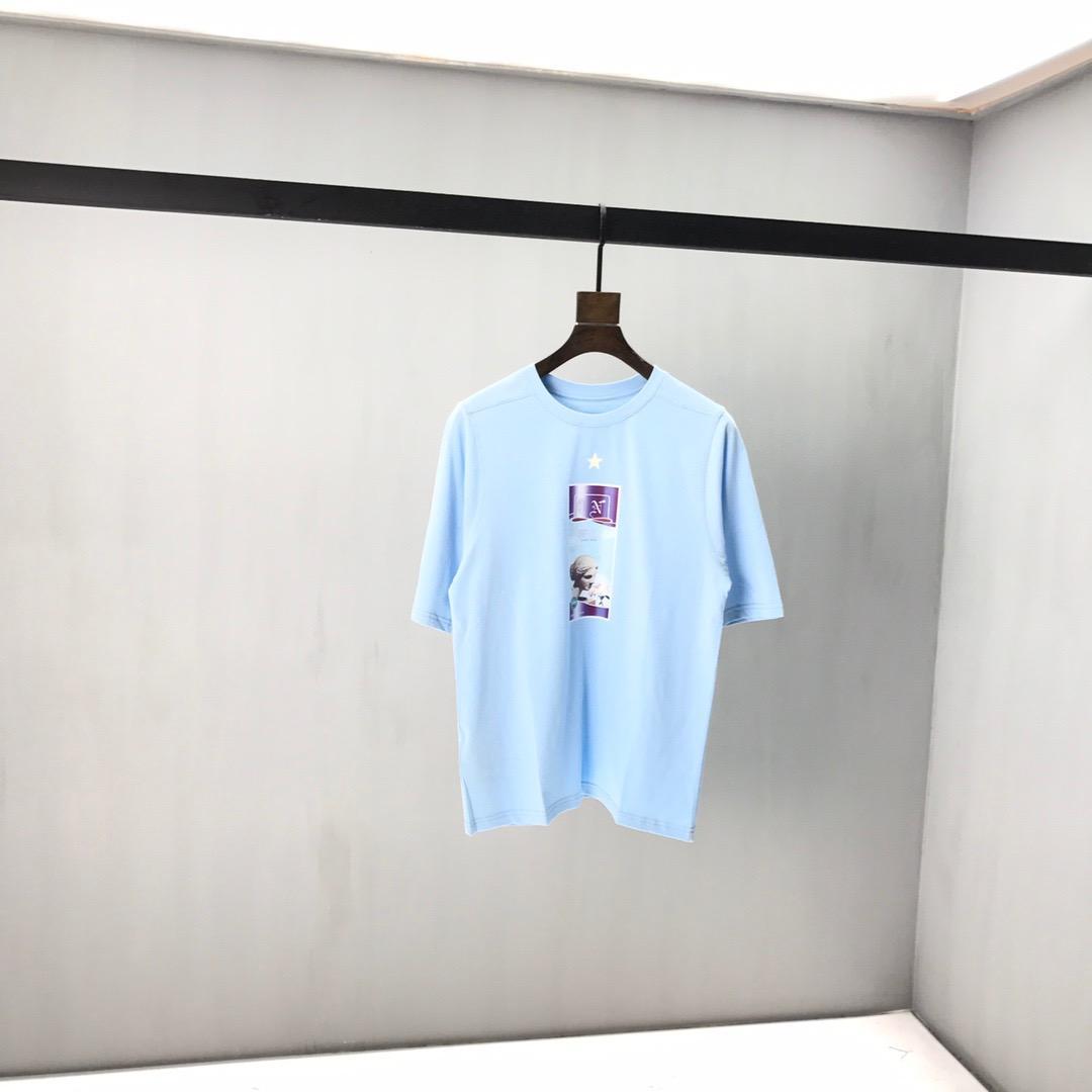 2020ss primavera e algodão novo alto grau de verão impressão de manga curta rodada painel pescoço t-shirt Tamanho: m-l-xl-XXL-XXXL Cor: preto branco XCd1
