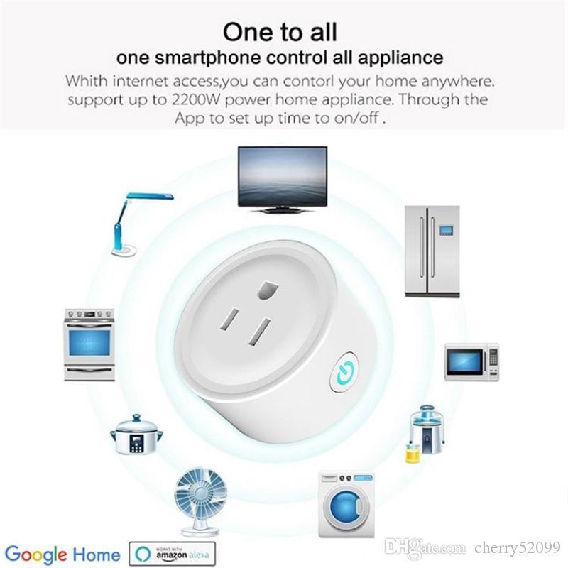 Wi-Fi Mini Smart Power enchufe de EE.UU. remoto Interruptor de Control de Potencia Momento de Gaza para el sistema Smart Home Automation electrónico