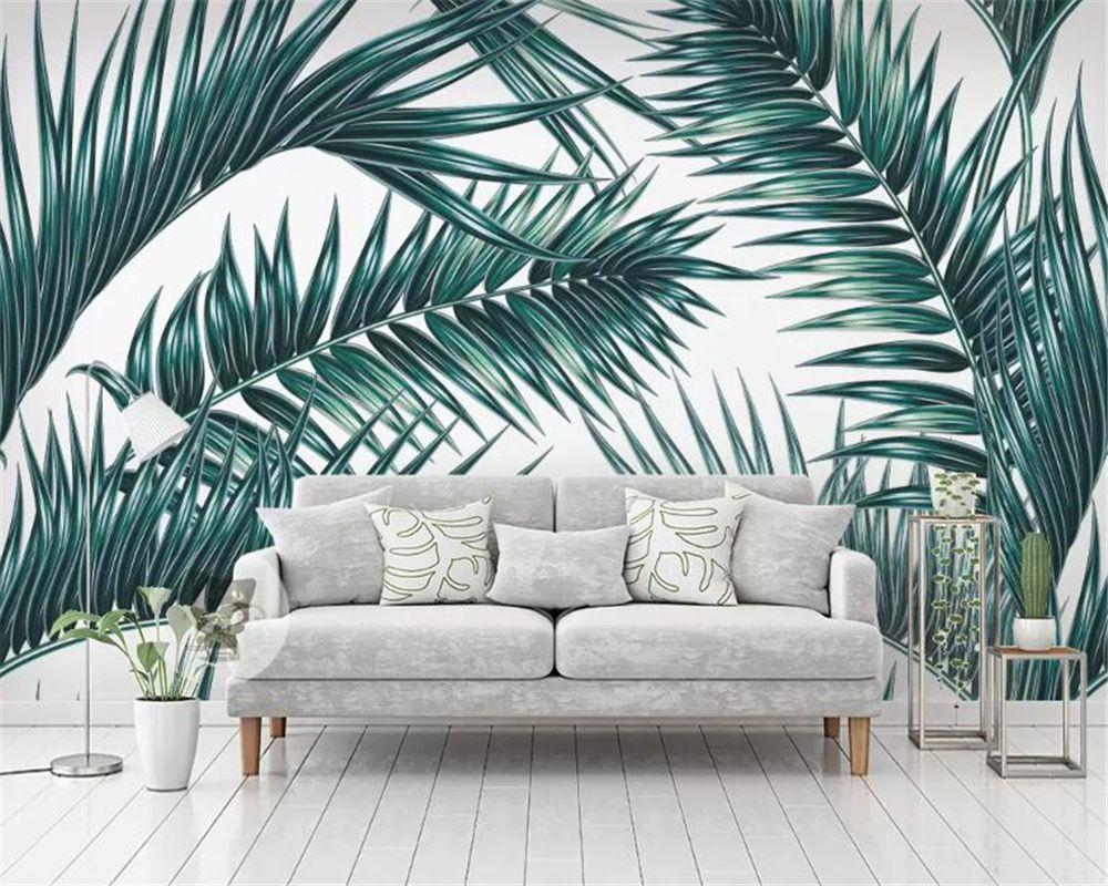 Carta Da Parati Immagini custom made modern home background wall 3d wallpaper tropical rainforest  plant living room carta da parati wallpaper wallpapers wallpapers  wallpapers