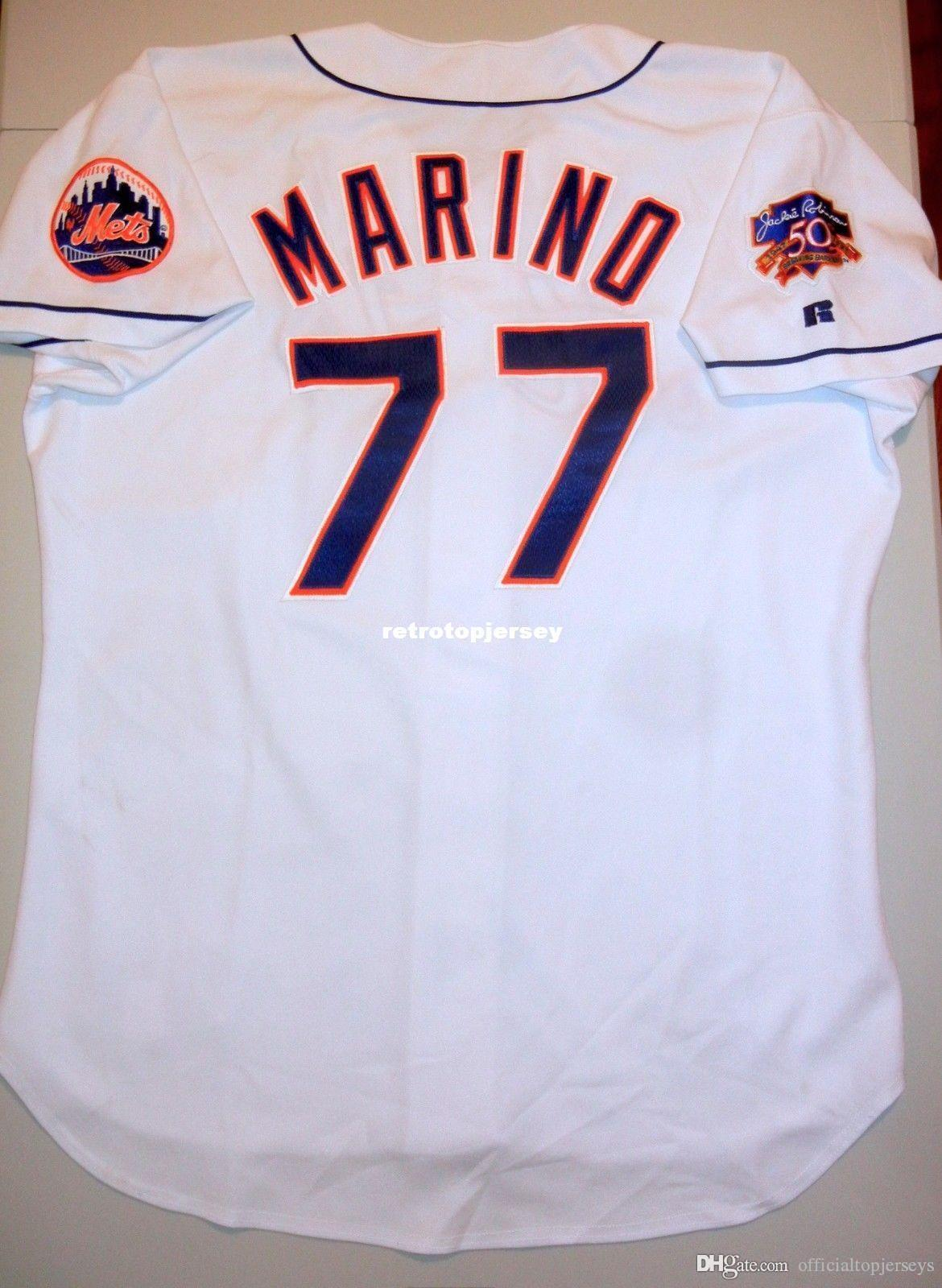 Cheap Top Retro NOVO New # 77 Marino NEW YORK 97 Jersey Branco Alfonzo Olerud 52 homens jerseys costurado beisebol