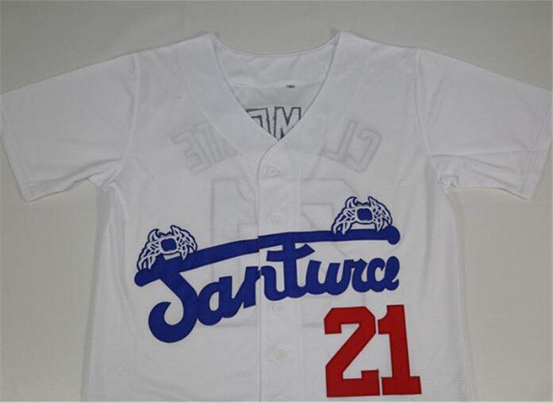 cheap for discount da25a 52250 2019 Men Puerto Rico Cangrejeros De Santurce Crabbers Jerseys Gray #21  Roberto Clemente Black White Stitched University Baseball Jerseys From ...