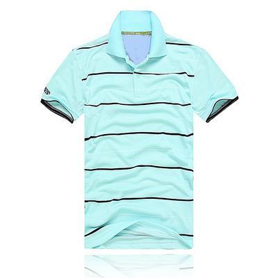 ocasional dos homens listrado T-shirt 2018 nova moda de lapela camisa POLO luxo designer marca bordados impressão T-shirt de algodão de alta qualidade