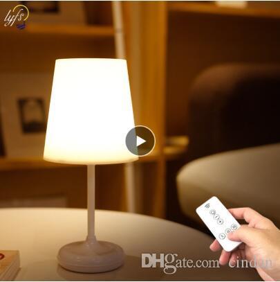 원격 제어 테이블 램프에 대한 조명 야간 조명 LED 독서 눈 보호 데스크 램프 터치 디 밍이의 USB 충전