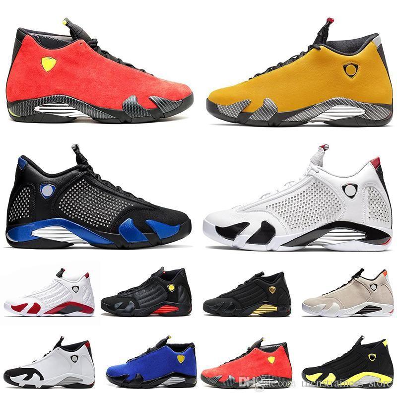 High Quality Reverse 14 14s Men Basketball Shoes University Gold Candy Cane Desert Sand Last Shot Thunder Mens Trainer Sports Sneakers 7-13