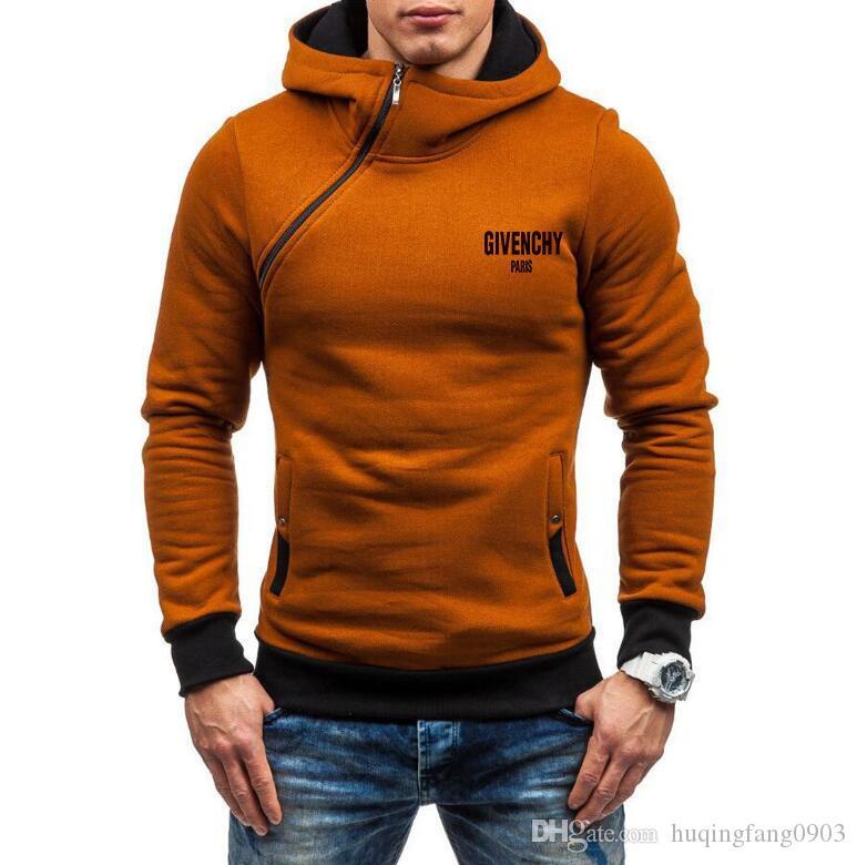 New Hot mulheres homens encapuzados de moda fleece Moletons blusas Hoodies pullover unisex com capuz zipper Side ZGD20238 coat